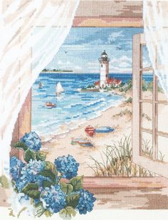 Amazon.com: Janlynn View from The Window Counted Cross Stitch Kit
