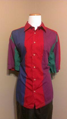 Colorblock+Claiborne+top Size:+L