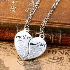 .01 + S&H Silver Heart Love Mom #Necklaces