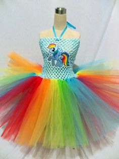 Items similar to Size Upgrade - Rainbow Dash My Little Pony Tutu Dress on Etsy All My Little Pony, My Little Pony Birthday, My Little Pony Party, Candy Costumes, Tutu Costumes, Cute Halloween Costumes, Costume Ideas, Rainbow Dash, Rainbow Tutu
