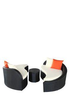 Magatama Outdoor Wicker Patio 3 Piece Sofa Set by Modway on @HauteLook
