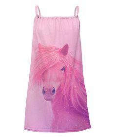 Love this Pink Horse Sublimation Yoke Dress - Toddler & Girls on #zulily! #zulilyfinds