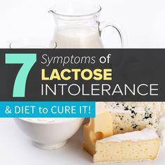 7 Symptoms of Lactose Intolerance & Diet to Cure it Lactose Free Diet, Lactose Free Recipes, Celiac Recipes, Lactose Sensitivity, Dairy Sensitivity Symptoms, Detox Symptoms, Gastritis Symptoms, Heartburn, Food Intolerance