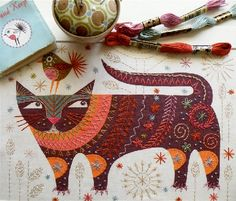 Nancy Nicholson - machine embroidery