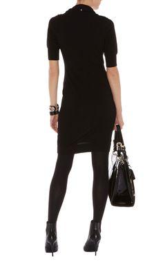Karen Millen Military trenchcoat knit dress black ,Karen Millen KP239 dresses online outlet sale at Karen Millen uk Store- www.ntbinfo.org