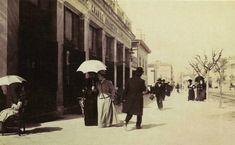 """Η """"λεωφόρος με τις γαζίες"""" και η """"οδός των ακακιών"""" στο κέντρο της Αθήνας, θύμιζαν ευρωπαϊκή μεγαλούπολη. Όταν ξερίζωσαν τα όμορφα δέντρα, άρχισαν και το γκρέμισμα των αρχοντικών (φωτο) - ΜΗΧΑΝΗ ΤΟΥ ΧΡΟΝΟΥ Greece, Street View, History, Greece Country, Historia"""