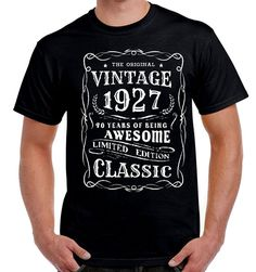 Items Similar To 90th Birthday Gift T Shirt For Grandpa Grandfather Granddad Father Grandmother Man Turning 90 Funny Vintage Age Years Old Born 1927 On