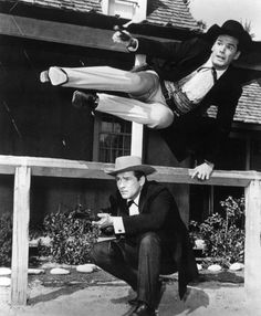 Bret & Bart Maverick, Jack Kelly and James Garner.  Always had trouble remember which was Bret and which was Bart!  :)