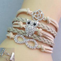 Trendy Multi-Layered Owl Shape Friendship Bracelet For Women