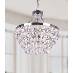Ivana 5-light Chrome Luxury Crystal Chandelier