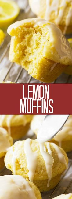 These Lemon Muffins are perfect for brunch, breakfast or even a snack!! They are full of bright lemony flavor and the glaze puts them over the top!