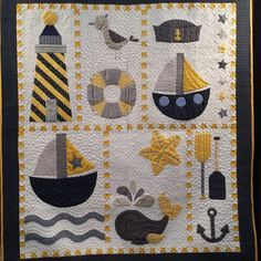 nautical baby quilt - Google Search
