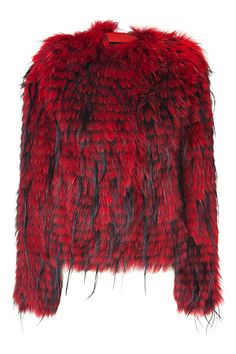 Black short zebra faux fur jacket