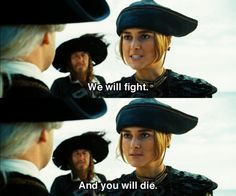For the last time Mr. Collins, Elizabeth said NO! #wrongElizabeth Pirates of the Caribbean: At World's End