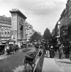 Porte saint denis en 1900. Paris