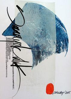Work by Mehtap Uygungöz, a Turkish calligraphic artist.