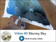 Video #3 sample of watercolor  How to Paint a Stormy Atmosphertic Sky