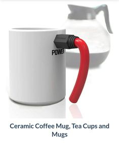 Get this cool power cord mug as you get powered up on your coffee.  #Coolmugs #Powercablemugs #iwtat #gifts #kitchen