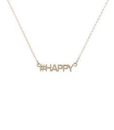 ShopBazaar Gus + Al Gold 'Happy' Necklace MAIN