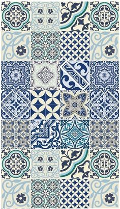 Eclectic Blue Delft Tile Style Large Floor Mat 28 by - Floor Mats - Ideas of Floor Mats floor patterns Floor Texture, Tiles Texture, Tile Art, Wall Tiles, Porch Tile, Delft Tiles, Graphic Wallpaper, Portuguese Tiles, Style Tile