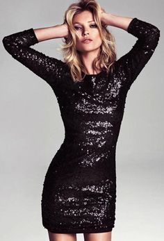 Into the Stardust Black Sequin Dress | Christmas parties, Trendy ...