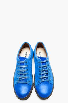 ACNE STUDIOS Blue Suede Sneakers