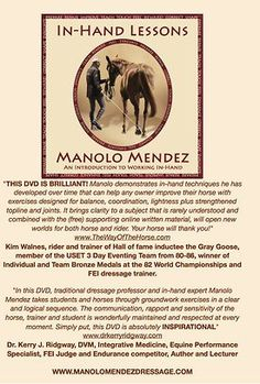 Working in Hand, 53$ Book   In-Hand Lessons with Manolo Mendez: An Introduction to Working In-Hand