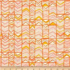 Art Gallery Meadow Geos Bright Mandarin