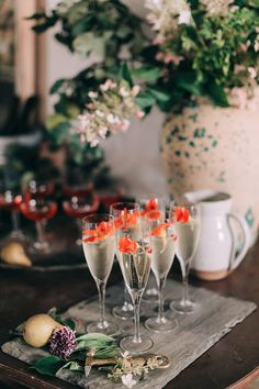 Champagne flowers