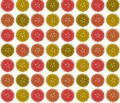Autumn pie flower dots fabric by scrummy on Spoonflower - custom fabric