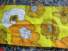 Curtain Valance Retro Vintage Floral Flowers by VintageSqualor, $12.50