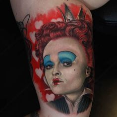 100 Alice in Wonderland Tattoos You'll Need to See - Tattoo Me Now Lewis Carroll, Rosary Foot Tattoos, Beetlejuice Tattoo, Nightmare Before Christmas Mug, See Tattoo, Tattoo Ink, Tattoo Designs, Johnny Depp Movies, Stylist Tattoos