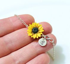 Silver Earrings For Women Kids Jewelry, Cute Jewelry, Jewelry Shop, Women Jewelry, Unique Jewelry, Sunflower Necklace, Sunflower Jewelry, Sterling Jewelry, Bracelets