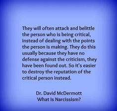 Truth. What is Narcissism? This is Narcissism.