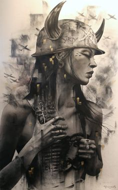 Brian Viveros Debuts New Paintings of His Smokey-Eyed Vixens in New York | Hi-Fructose Magazine