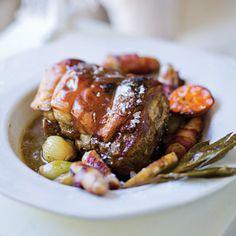 How to roast pork Lamb Ribs, Pork Shoulder Roast, Baked Pork, Meat Chickens, Roasting Pan, Pork Roast, Serving Platters, Casserole Dishes, Delish