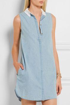 EQUIPMENT Lanie cotton-chambray mini dress | net-a-porter