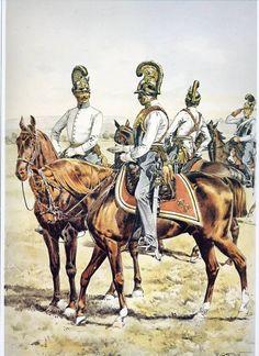 kaiserlicher Dragoner und Kürassiere, 1848.