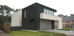 Woning in Nijlen - Exterieur: 2 verschillende gevelstenen donker & licht samen.