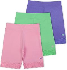 Lucky & Me Jada Little Girls Bike Shorts, Tagless, Soft Cotton, Lace Trim, Underwear Little Girls Bike, Shorts Under Dress, Comfy Shorts, Jada, Short Girls, Lace Trim, Girl Fashion, Underwear, Style Inspiration