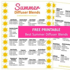 25+ of the Best Summer Essential Oil Diffuser Recipes {with FREE PRINTABLE} - ONE essential COMMUNITY