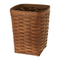 """Square Waste Basket The Small Square Waste Basket is an attractive addition to any room as a waste basket or for storage to hold gift wrap, maps, toys for your pet and more. Protector available separately.  9 3/4""""l x 9 1/4""""w x 12""""h; Rec. Wt. Use: 30 lbs."""