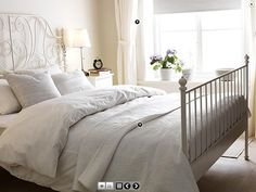 I love how simple and clean this is. Perfect for the guest bedroom! Just add a desk!
