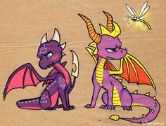 Spyro and Cynder fan art.