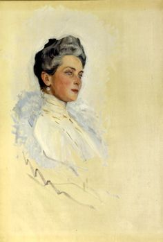 Zinaida,  by Serov. This matriarch of the Yusupov family, gifted with immense wealth and beauty, would endure the early death of one son, and the  other's banishment from court as a murderer.