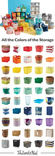 classroom storage It is possible to have a chic living room, and still keep your children's toys close at hand. Stash toys in storage bins and baskets that compliment your décor, and add pattern and texture. It'll making cleaning up, well, child's play. Storage Room, Storage Bins, Craft Storage, Storage Ideas, Toy Storage Solutions, Kids Storage, Craft Organization, Classroom Organization, Classroom Decor