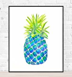 Originele ananas aquarel-pineapple painting-fruit