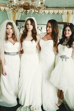 Pretty Little Liars in wedding dresses