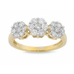 Diamond Flower Ring  #autumn #autumnfashion #diamonds #jewellery