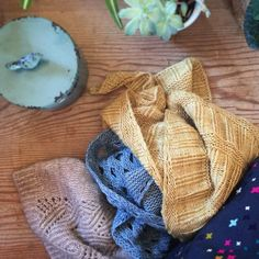 #koruhat #settlershawl and #rattanshawl are 3 of my most popular patterns - I love seeing your versions! My samples are looking a little tired and I'm thinking it might be time to reknit them - I wonder what colours my new samples should be? Any suggestions?